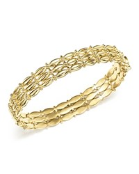 Temple St. Clair 18K Yellow Gold Vigna Bracelet With Diamond White Gold