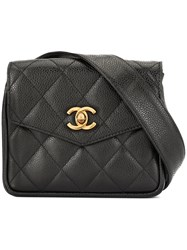 Chanel Vintage Cc Logo Bum Bag Black