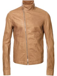 Rick Owens 'Mollinos' Biker Jacket Brown