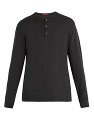 Barena Henley Long Sleeve T Shirt Black