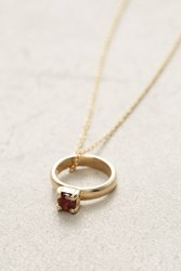 Anthropologie Birthstone Ring Choker Wine