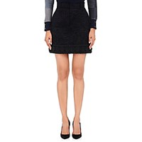 Thom Browne Women's Tweed Miniskirt Black
