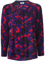Sonia By Sonia Rykiel Camouflage Print Cardigan Pink And Purple