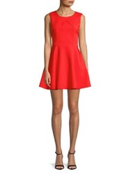 Molly Bracken Pleated Fit And Flare Dress Red