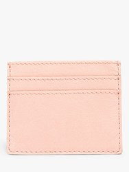 Madewell Leather Card Case Sheer Pink