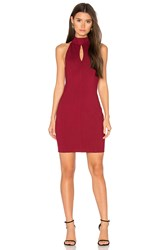 Bobi Black Cut Out Bodycon Dress Red