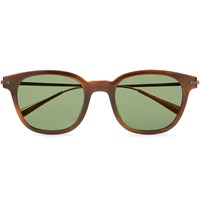 Berluti Oliver Peoples Miami Square Frame Tortoiseshell Acetate And Gunmetal Tone Sunglasses Tortoiseshell