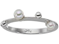 Majorica Pearls Placed On Sterling Silver Ring White Ring