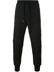 Dolce And Gabbana Ribbed Detail Track Pants Black