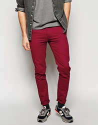 New Look Chinos In Skinny Fit Red
