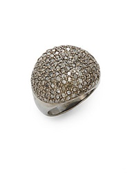 Bavna Champagne Diamond And Sterling Silver Dome Ring