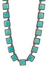Nak Armstrong Women's Turquoise Mosaic Necklace Colorless