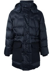 Ami Alexandre Mattiussi Long Oversized Padded Coat Blue