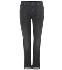 7 For All Mankind Relaxed Skinny Girlfriend Jean Black