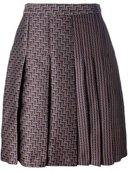 Diane Von Furstenberg High Rise Pleated Skirt Multicolour
