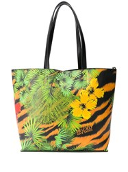 Versace Jeans Couture Tropical Tiger Print Tote Bag 60
