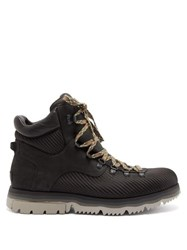 Sorel Atlistm Axe Leather And Nylon Hiking Boots Black