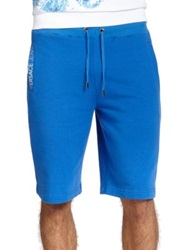 Versace Solid Sweat Shorts Bluette