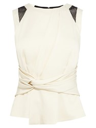 Karen Millen Hammered Satin Shell Top