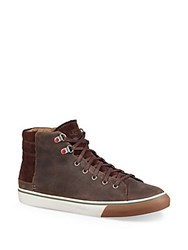 Ugg Casual Leather Sneakers Brown