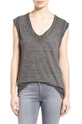 Pam And Gela V Neck Muscle Tee Gray