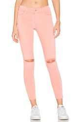 Joe's Jeans The Icon Mid Rise Super Skinny Coral