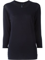 Woolrich Shoulder Knitted Blouse Blue