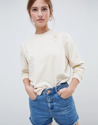 Minimum Moves By Daisy Sweatshirt Cream