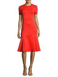 Mcq By Alexander Mcqueen Solid Flared Dress Bright Red