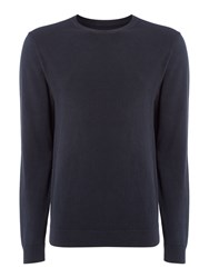 Label Lab Men's Eden Crew Neck Knit Dark Blue