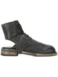 Ann Demeulemeester Cut Out Ankle Boots Women Leather 38 Black