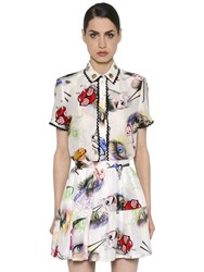 Kenzo Printed Linen And Silk Shirt
