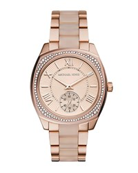 Bryn Rose Golden Stainless Steel Watch Michael Kors