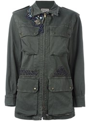 History Repeats Embellished 'Field' Jacket Green