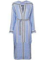 Lemlem Kesiti Shirt Dress Blue