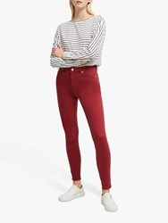 French Connection Organic High Waist Skinny Jeans Rosewood