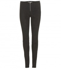 Alice Olivia Stretch Suede Leggings Black