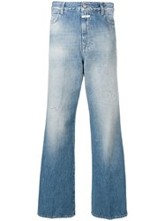 Closed Faded Wide Leg Trousers Blue