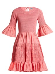 Molly Goddard Susanne Shirred Taffeta Mini Dress Pink