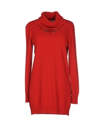 Blugirl Blumarine Turtlenecks Red