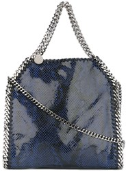 Stella Mccartney A Falabellaa Snakeskin Effect Tote Blue
