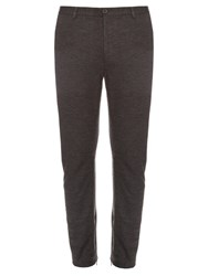 Lanvin Slim Leg Flannel Trousers Grey