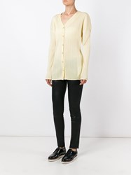 Issey Miyake Vintage Collarless Pleated Shirt Nude And Neutrals