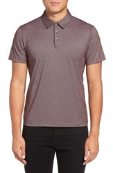 Zachary Prell Men's Tompkins Polo Burgundy
