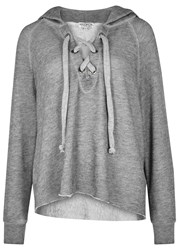 Wildfox Couture Hutton Grey Hooded Jersey Sweatshirt