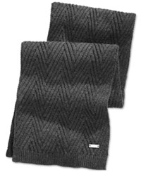 Ryan Seacrest Distinction Ryan Seacrest Herringbone Stitch Scarf Only At Macy's Charcoal