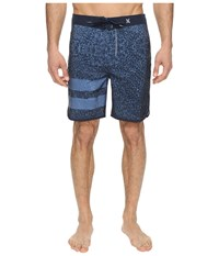 Hurley Phantom Block Party Carve 19 Boardshorts Obsidian Men's Swimwear Brown