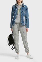 Sjyp Embroidered Jersey Track Pants Grey