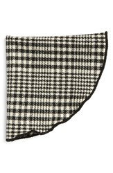 Men's Alexander Olch Plaid Wool Pocket Round Black