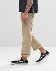 Dickies 873 Work Pant Chino In Straight Fit Khaki Beige